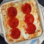 Pepperoni Pizza Cauliflower Casserole