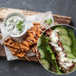Ginger Tzatziki Chicken Wraps