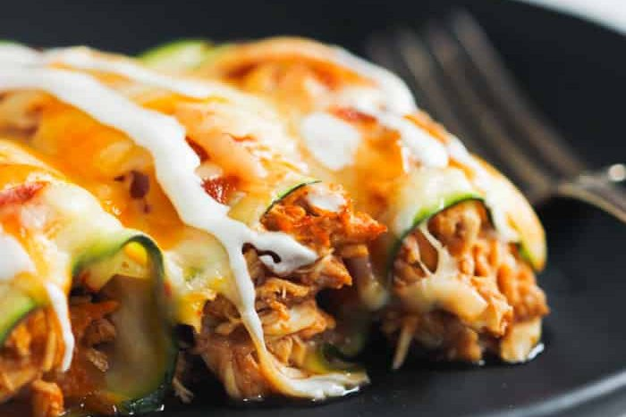 Low-Carb Chicken Zucchini Enchilada